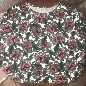 Zara flowered blouse. Size Large
